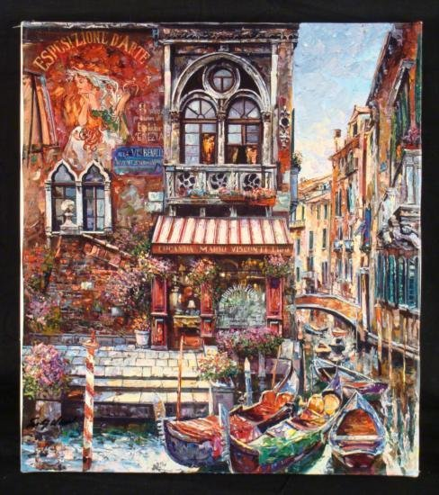 Vadik Suljakov Signed Art Print Locando Mario Italy
