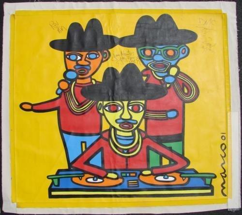 REV RUN DMC Massive Hip Hop Pop Art Original MARCO