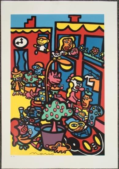 Colorful SOHO Dynamic Signed LE Pop Art Canvas MARCO