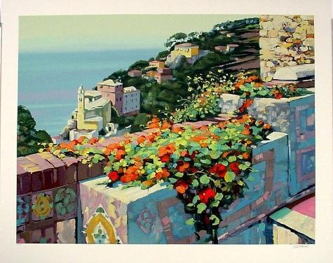 Howard Behrens LA TERRAZA LE Signed Art Print