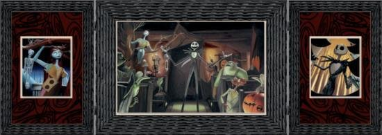 Nightmare Before Christmas TRICK OR TREE Triptych Art
