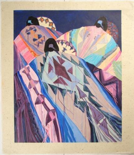 BASKETS BLANKETS Roberts Southwest Art Print Rice Paper