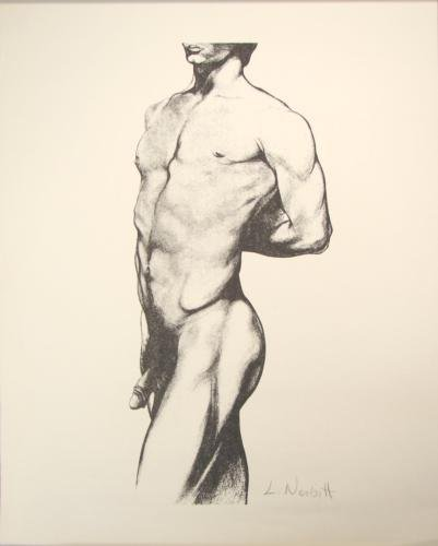 Male Nude Gay Signed Art Print Lowell Nesbitt Rare