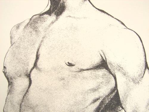 Male Nude Gay Signed Art Print Lowell Nesbitt Rare - 2