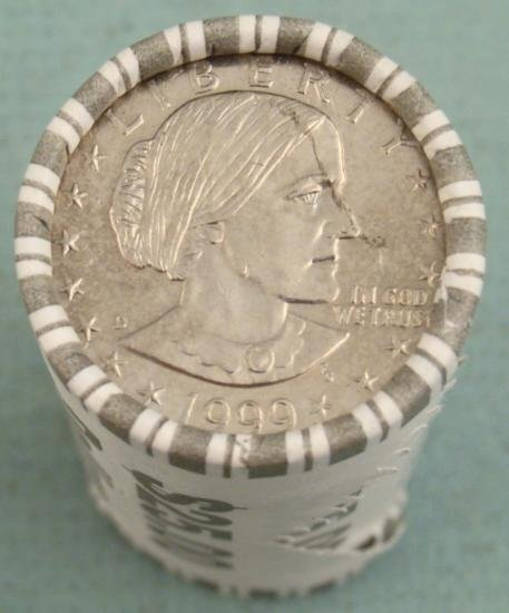 1999-D Susan B. Anthony Dollar Wrapped Roll