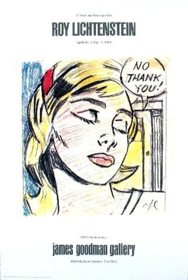 1984 Lichtenstein No, Thank you! Poster