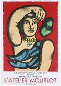 1984 Leger Woman on Red background Mourlot Litho