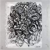 Signed 1986 Borofsky from Art Sounds Offset Litho