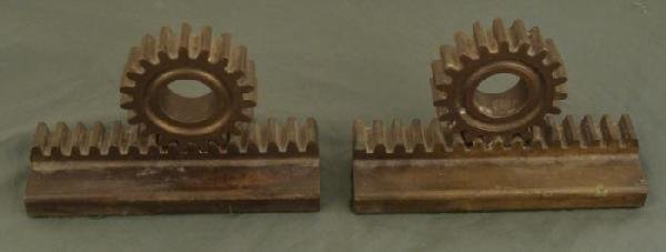 WWII US NAVAL BOATS GEAR SHAFT MADE INTO BOOKENDS