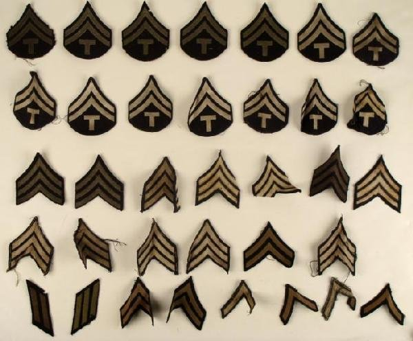 LARGE COLLECTION OF WWII U.S. RANK CHEVRONS