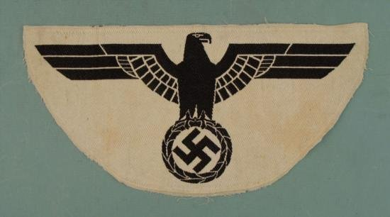 NAZI WEHRMACHT ARMY SPORT SHIRT EAGLE - WHITE AND BLACK