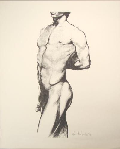 Male Nude Gay Signed Art Print Lowell Nesbitt Rare