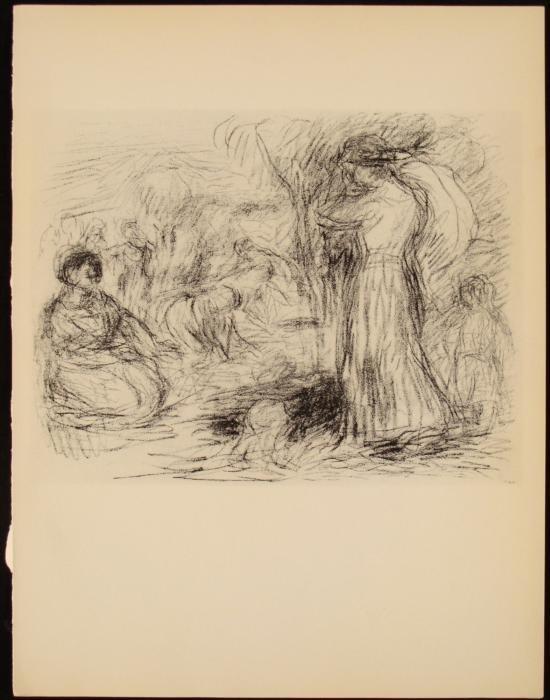 Renoir Litho Print LE Mourlot Vollard Suite Les Laveuse