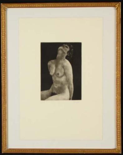 Bernard Cochet Nude Signed Framed Mezzotint Art LTE 100