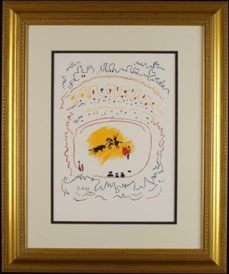 Corrida II Picasso LTD Edition Serigraph Numbered Print
