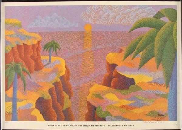 Marc Richard Rubin Signed Art Print Sunset The New Land