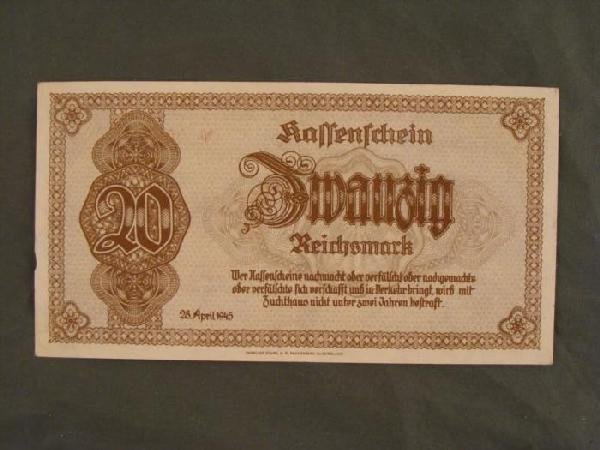 100 REICHSMARK ORIGINAL BANK NOTE - PRE NAZI 1935