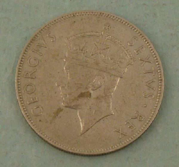 East Africa 1952 One Shilling Coin