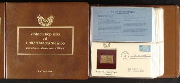 Golden Replica US Stamp Book US Covers Commem 1981-82