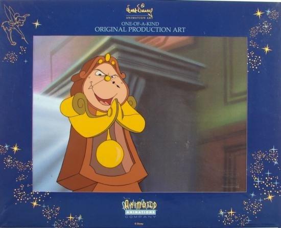 Disney BEAUTY AND BEAST Animation Cel + DRAWING Art