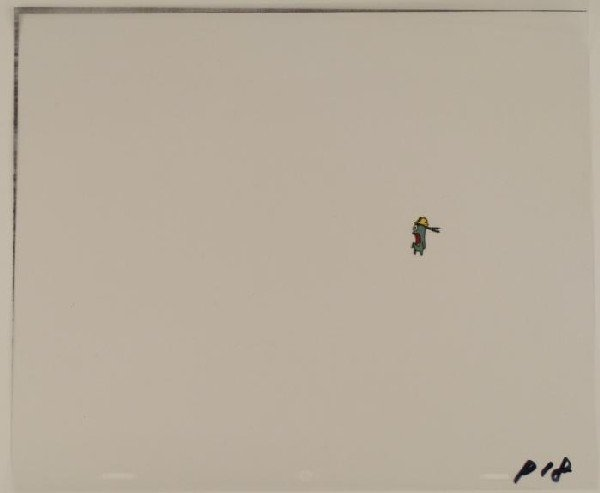 Plankton in Shock Animation Art Spongebob Original Cel