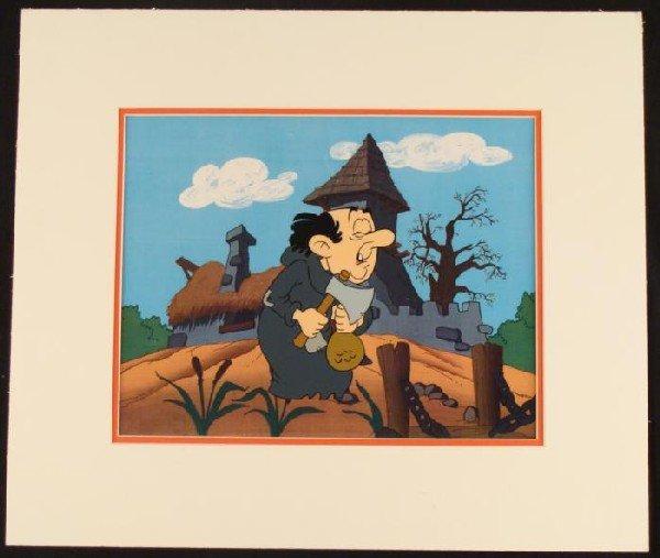 Gargamel Smurfs Original Animation Production Cel