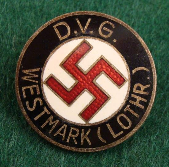 NAZI BADGE DVG WESTMARK (LOTHR) GERMAN FEDERATION