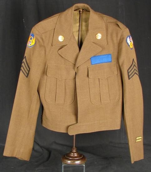 USAAF WWII Jacket w/ 8th, 9th Air Force Patches