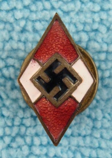VERY RARE VERSION HITLER YOUTH MEMBERSHIP LEADERS BADGE