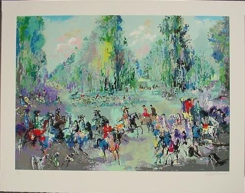 HUNT RENDEZVOUS Signed LeRoy Neiman Art Special Price