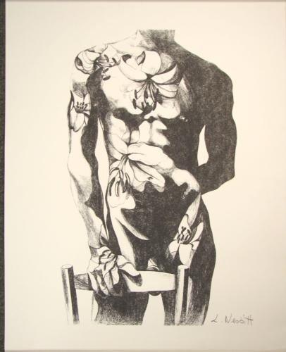 Lowell Nesbitt Rare Male Nude Signed Art Print