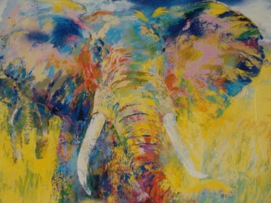 LeRoy Neiman Original Signed Print Big 5 Safari Art - 2