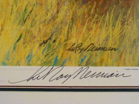 LeRoy Neiman Original Signed Print Big 5 Safari Art - 3