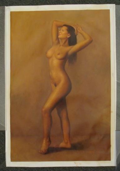 Ming H. Original Painting Young Lady Erotic Art