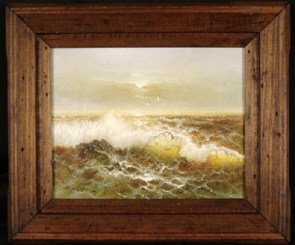 Alfred Manessier Original Rare Early Oil Painting Sea