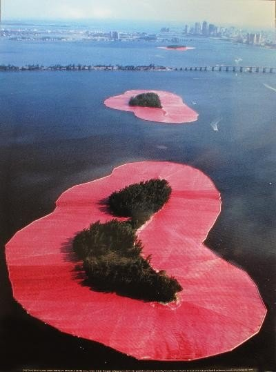 1980 Christo Surrounded Islands Miami Poster