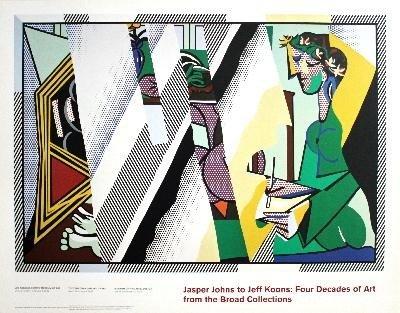 Lichtenstein Reflections on Interior w/ Girl Poster