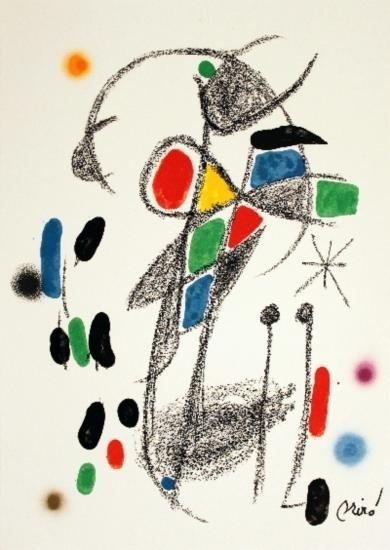 1975 Miro Maravillas #1070 Lithograph