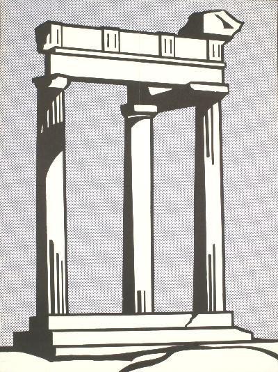 1964 Lichtenstein Temple Poster