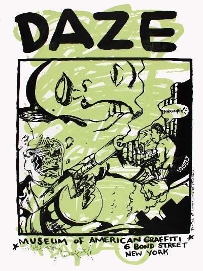Signed Daze Museum of American Graffiti Serigraph