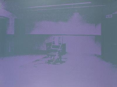 Warhol Electric Chair-Sunday B Morning Serigraph