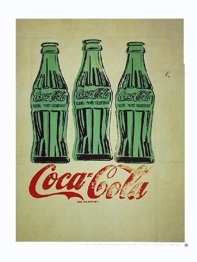 2000 Warhol Three Coke Bottles Poster