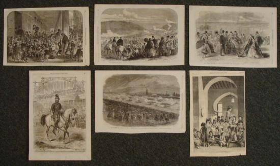 6 Antique Prints Illustrated London News 1858