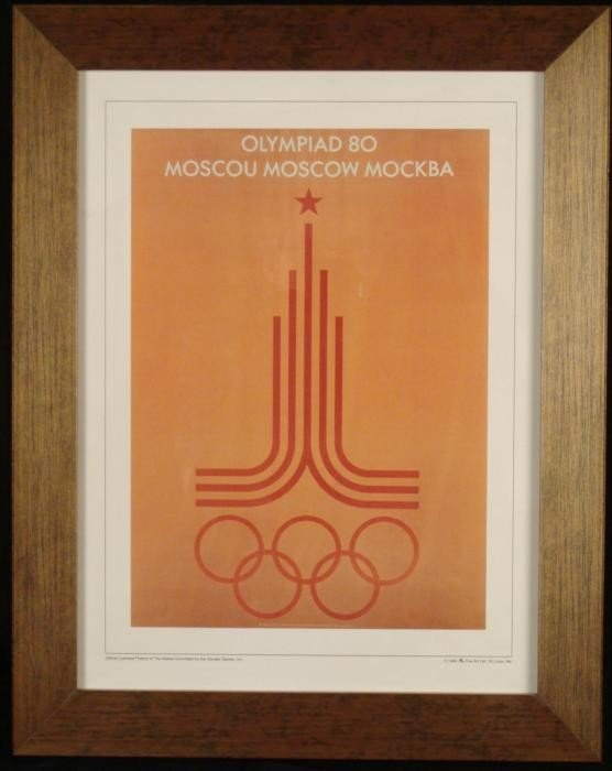 Olympic Games Framed Poster Print Moscow Russia 1980