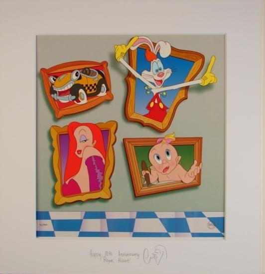 ROGER RABBIT Signed Ltd Ed Hand-Painted Animation Art