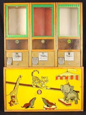 Victor 3 Ring Circus Toy Vending Machine-Vintage Rare