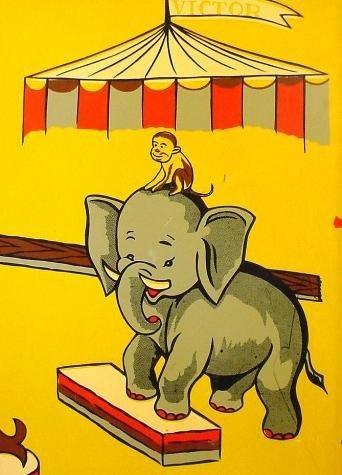Victor 3 Ring Circus Toy Vending Machine-Vintage Rare - 5