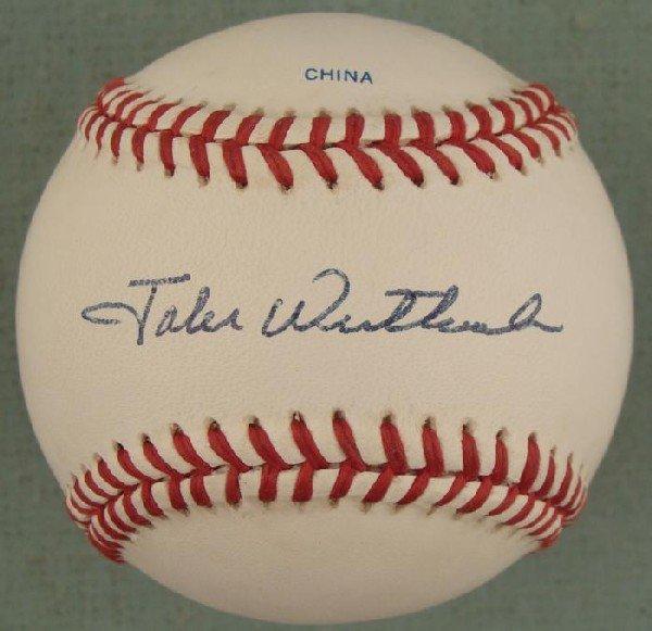 Jake Westbrook Signed Baseball All Star Yankees Indians