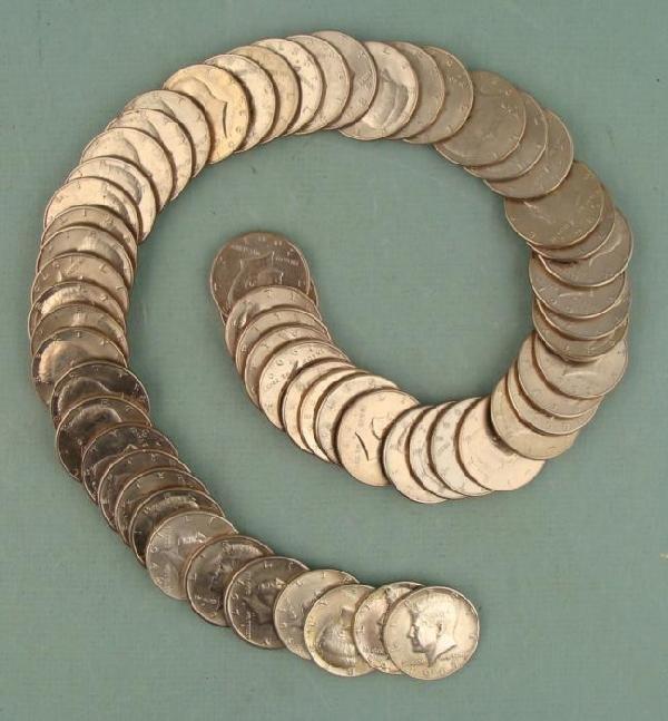 64 Diff Date Kennedy Half Dollar Coins 1964-2001