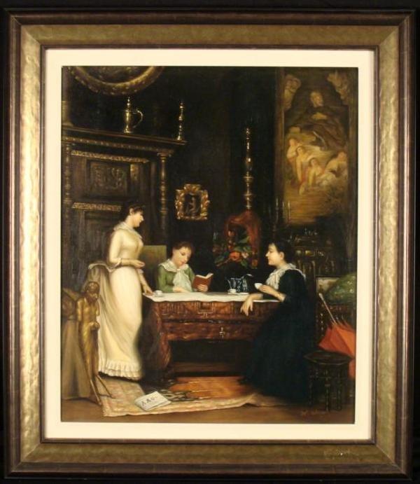 Original Oil Painting Classical Wert Framed